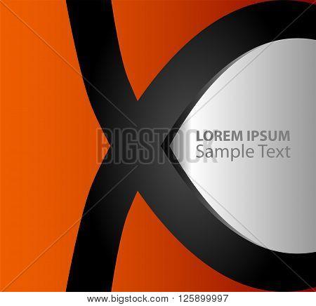 Orange, black paper background overlap dimension vector illustration message board for text and message design modern website