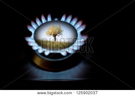 Alternative gas production for ecology and protection of enviroment
