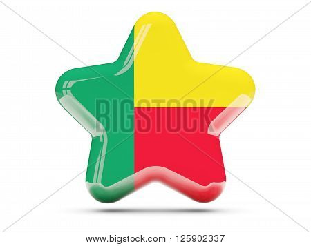 Star Icon With Flag Of Benin