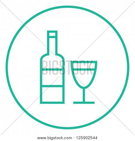 Bottle of wine line icon.
