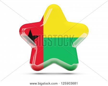 Star Icon With Flag Of Guinea Bissau