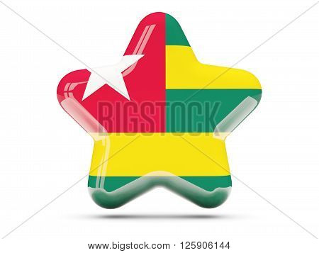 Star Icon With Flag Of Togo