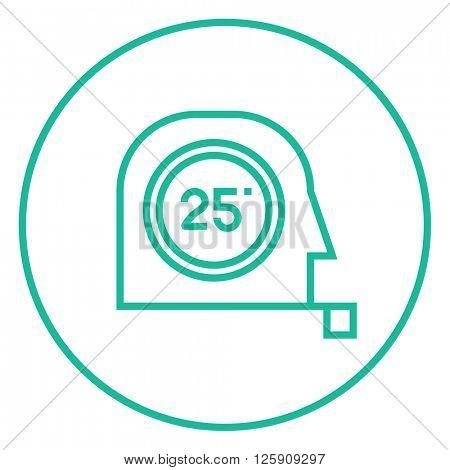 Tape measure line icon.