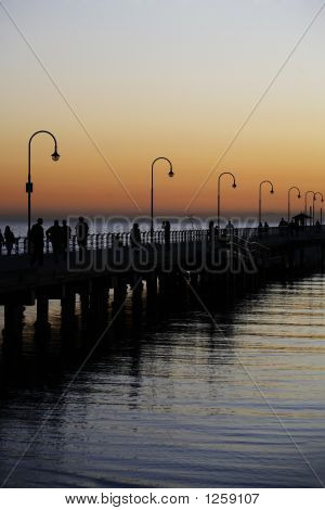 People & Sunset