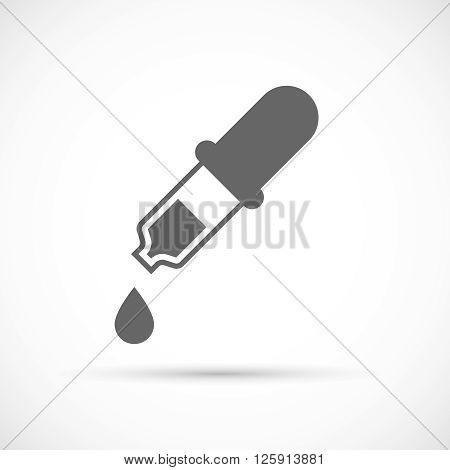 Pipette with drop icon. Medicine dropper icon