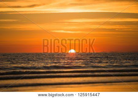 Sun In Ocean