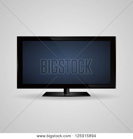 TV screen lcd plasma realistic vector illustration