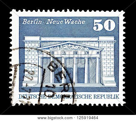 GERMAN DEMOCRATIC REPUBLIC - CIRCA 1974 : Cancelled postage stamp printed by German Democratic Republic, that shows Berlin.
