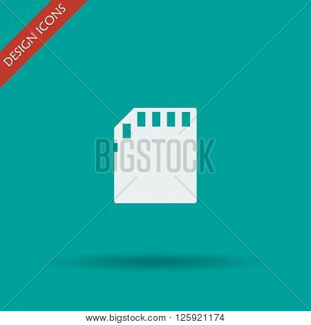 Micro sd card. Flat design style eps 10