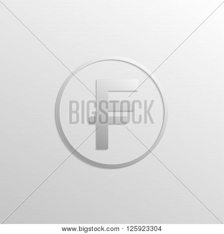 Franks icon with gradients and shadows. Vector illustration