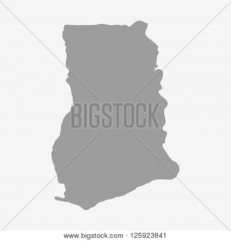 Ghana Map In Gray On A White Background
