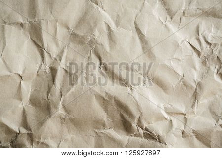 old wrinkled paper textured and background, Close up