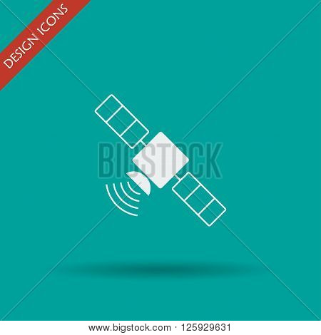 satellite icon. Flat design style. Vector icon