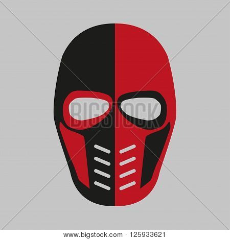 Mask of the comic book supervillain. Vector illustration