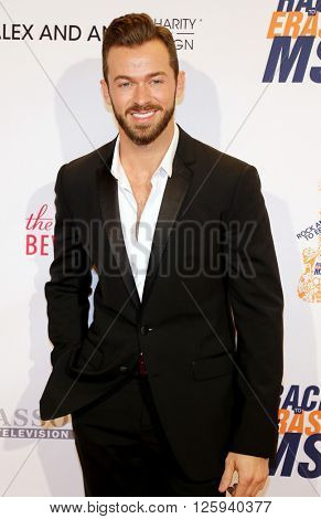 Artem Chigvintsev at the 23rd Annual Race To Erase MS Gala held at the Beverly Hilton Hotel in Beverly Hills, USA on April 15, 2016.