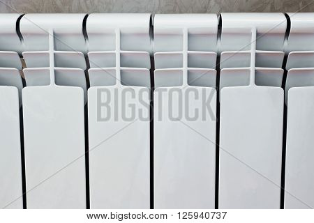 Heating radiator many sectional white for room heating