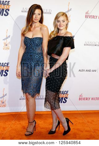 Aly Michalka and AJ Michalka at the 23rd Annual Race To Erase MS Gala held at the Beverly Hilton Hotel in Beverly Hills, USA on April 15, 2016.
