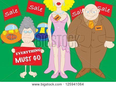 massive biggest discount sales concept vector illustration