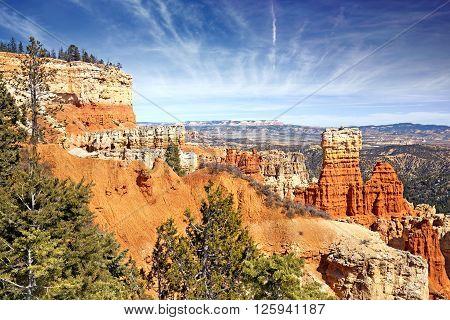 hoodoo rock formations in Bryce Canyon Utah