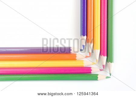 Abstract background from color pencils for design