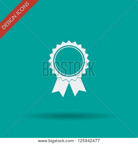 Vector medallion icon. Flat design style eps 10