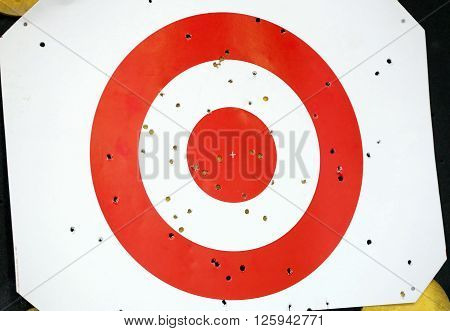 Red And White Colored Archery Target