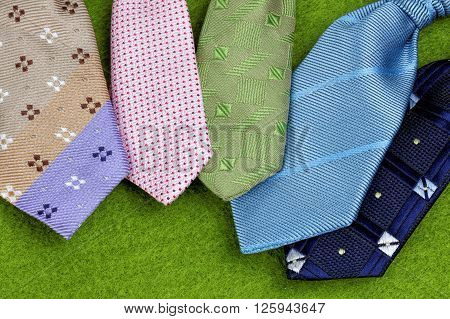 colorful set of ties. Father's day theme concept