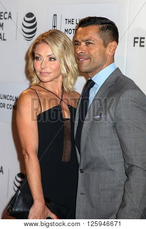 NEW YORK, NY - APRIL 16: Kelly Ripa and actor Mark Consuelo attdens  at 'All We Had' Premiere - 2016 Tribeca Film Festival  at BMCC Tribeca Performing Arts Center on April 15, 2016 in New York City