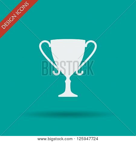 Vector champions cup icon. Flat design style eps 10