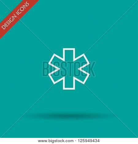 Vector medical icon. Modern design flat style icon
