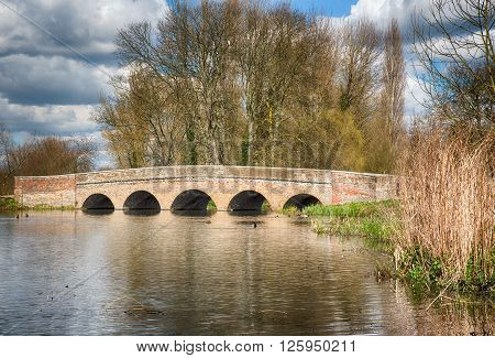 Five Arches Bridge over the river Cray in SidcupKentUK
