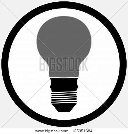 Idea lamp bulb icon black white. Light idea and light bulb icon bulb and light bulb idea lamp and innovation. Vector flat design illustration