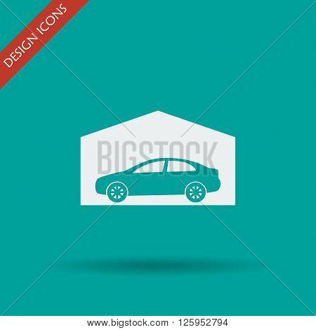 car garage. Flat design style eps 10