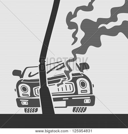 Vector Symbol Car Crash eps 8 File Format