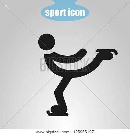 Icon of Figure Skating on a gray background. Vector illustration