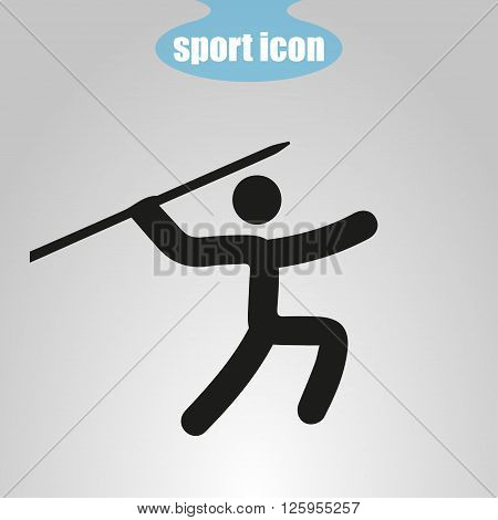 Icon of throwing spears on a gray background. Vector illustration