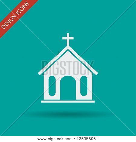 church icon. Flat design style eps 10