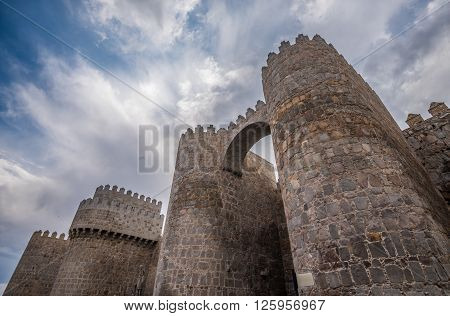 Walls Of Avila, Spanish Town In Castile And Leon
