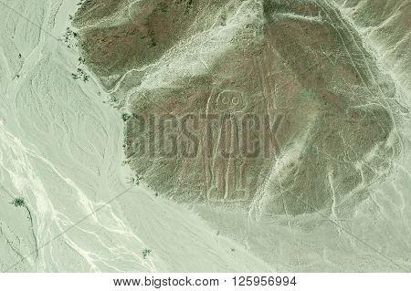 Aerial View Of Astronaut Geoglyph, Nazca Lines, Peru