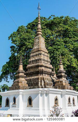 Architectural detail of a Stupa in Luang Prabang, Laos