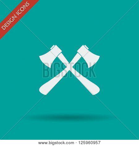 The Ax Icon. Axe Symbol.