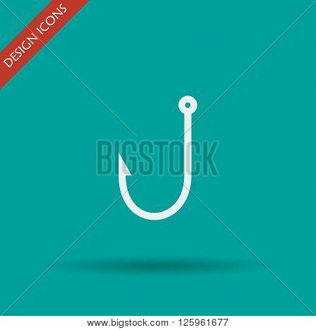 Hook icon. Flat design style eps 10