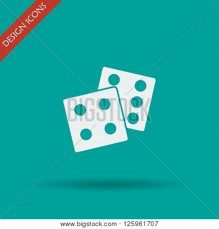 dice icon. Flat design style eps 10