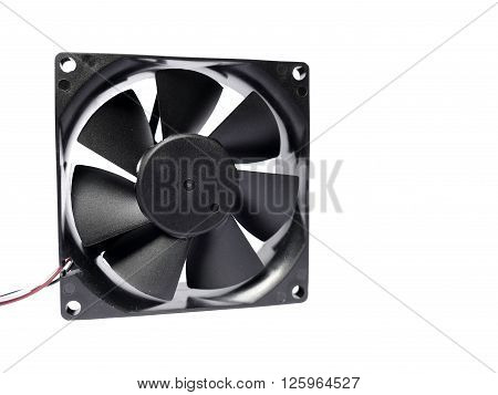 Computer fan with some minor dust on it isolated on white