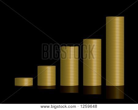 Coins Graph Black