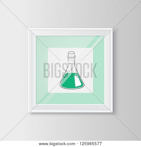 Useful template for science and healthcare topic. Vector resizable illustration.