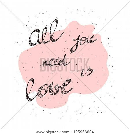 All You Need is Love inscription image All You Need is Love inscription art.