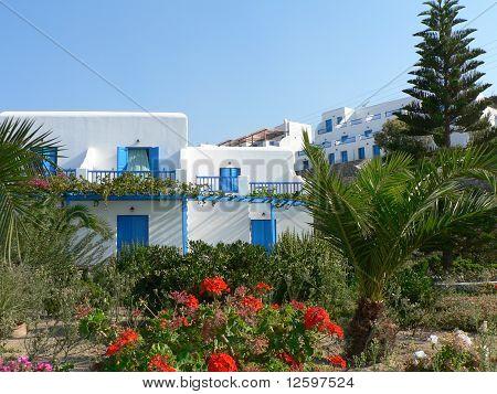 Santorini White and Blue