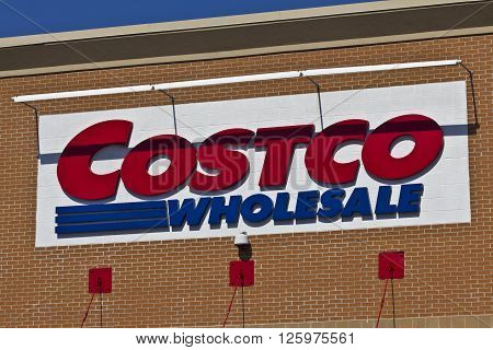Indianapolis - Circa April 2016: Costco Wholesale Location. Costco Wholesale is a Multi-Billion Dollar Global Retailer III