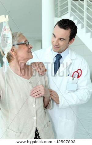 Doctor accompanying a patient